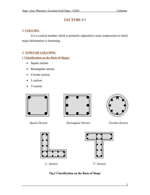 Columns lecture#1
