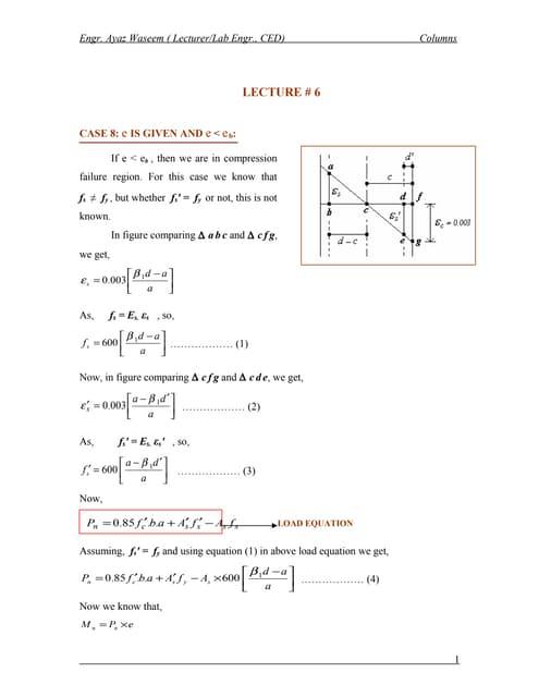 Columns lecture#6