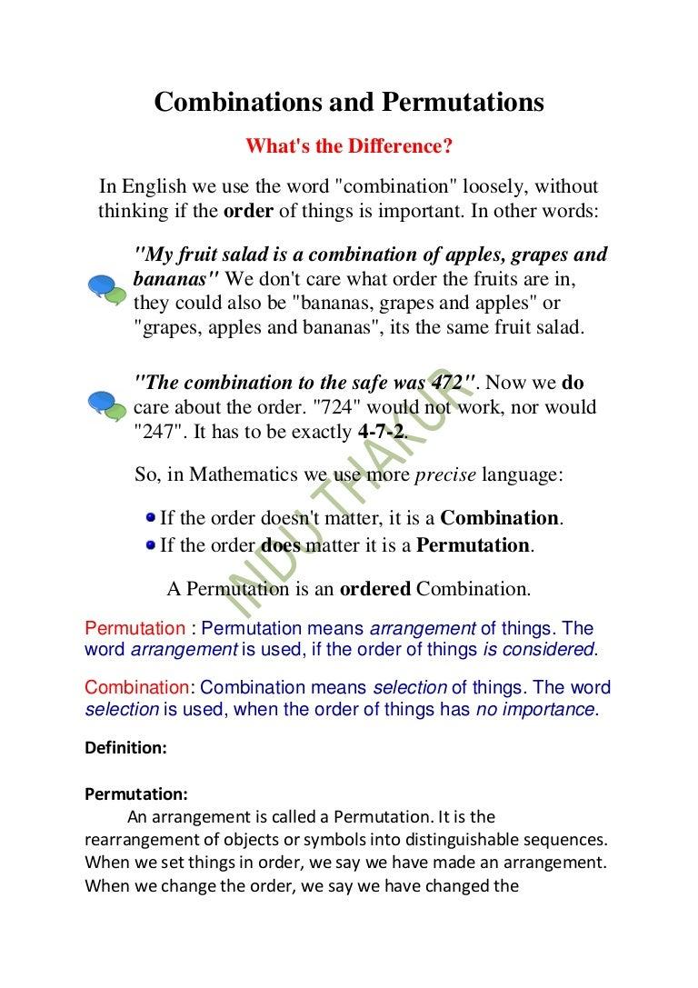 Combinations and permutations buycottarizona