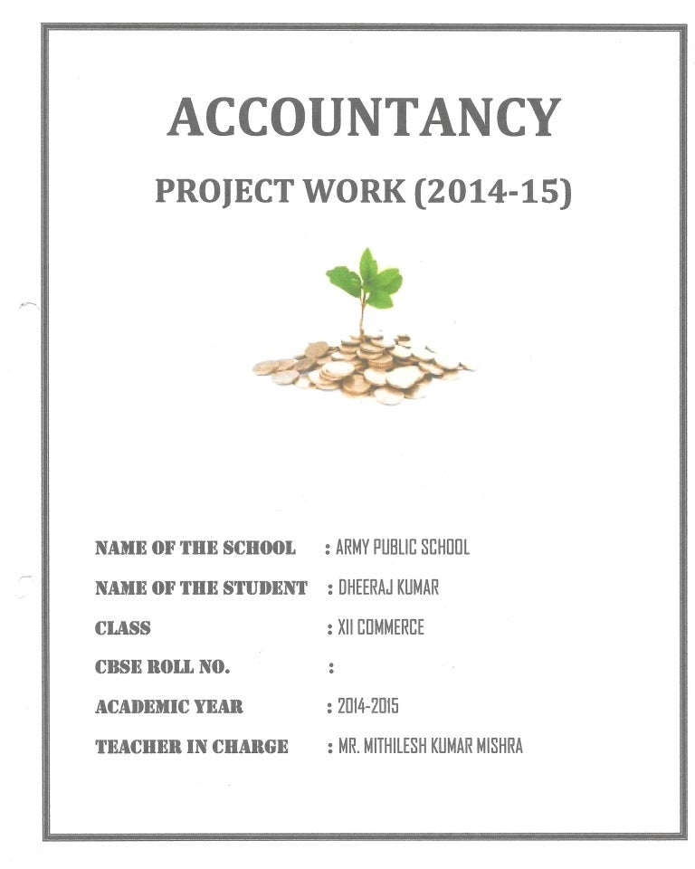 Accountancy Project Class 12th CBSE