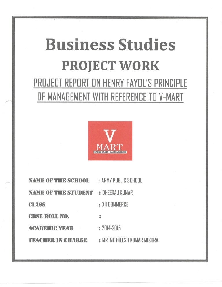 Business studies principles of management project class 12th cbse yelopaper Choice Image