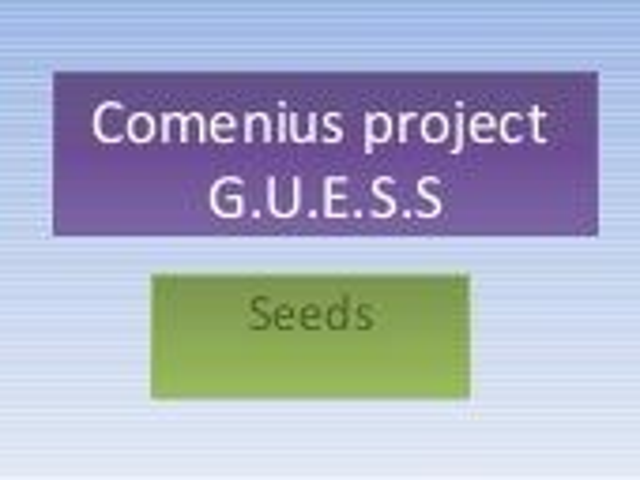 Comenius project   semínka