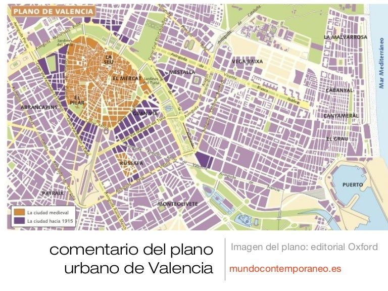 Comentario plano valencia for Tipos de mobiliario urbano pdf