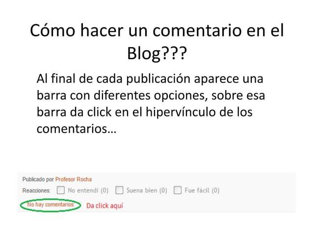 Comentar un blog