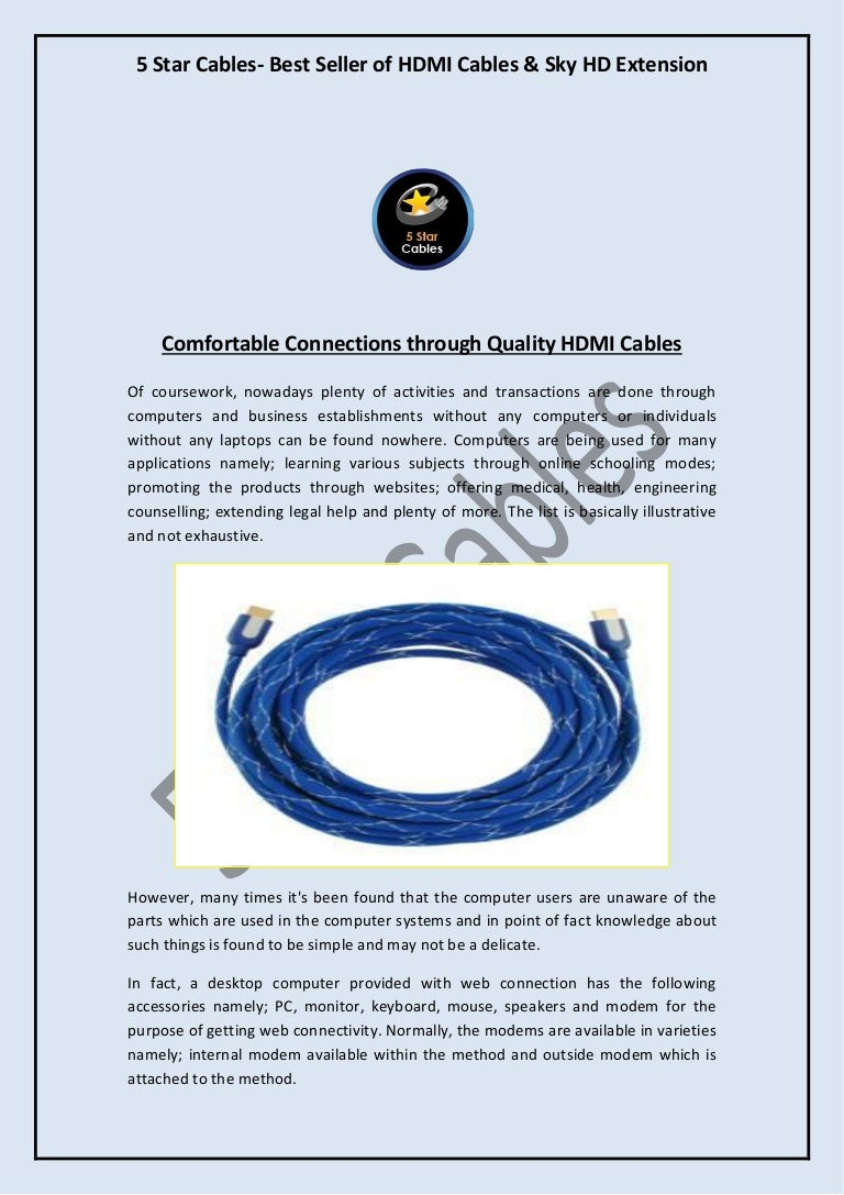 Comfortable Connections through Quality HDMI Cables