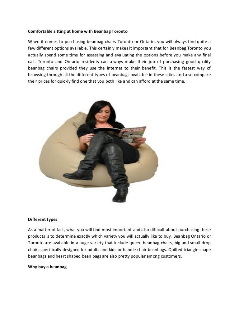 Comfortable Sitting At Home With Beanbag Toronto