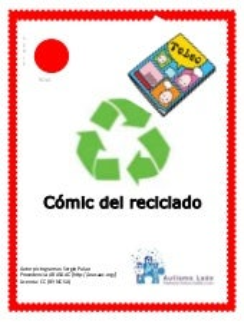 Cómic del reciclado para personas con autismo