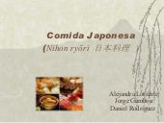 Comida Japonesa (Jorge,