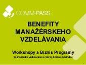 COMM-PASS Benefity manažérskeho vzdelávania