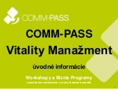 COMM-PASS Vitality manažment - INTRO