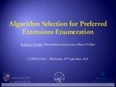 Algorithm Selection for Preferred Extensions Enumeration