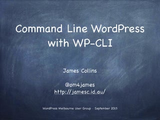 Command Line WordPress with WP-CLI