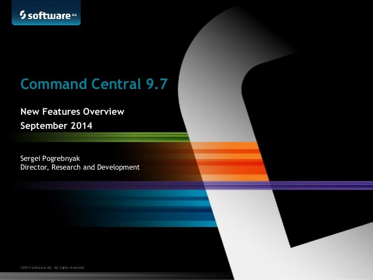 Command Central 9 7 Features Overview