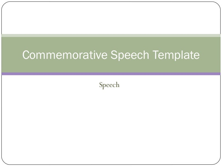 commemorative speech definition