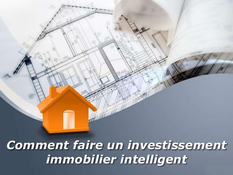investissement immobilier intelligent
