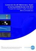 Commercial Aircraft Maintenance, Repair & Overhaul (MRO) Market 2014-2024