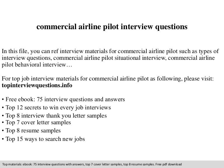 commercial airline pilot interview questions - Airline Pilot Job Interview Questions And Answers