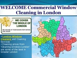 Commercial Window Cleaners of London with Prompt Services