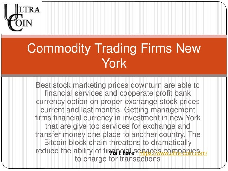 Options trading firms nyc