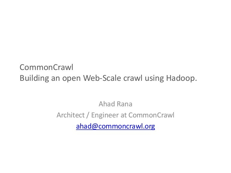 Building a Scalable Web Crawler with Hadoop