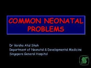 Common neonatal problems