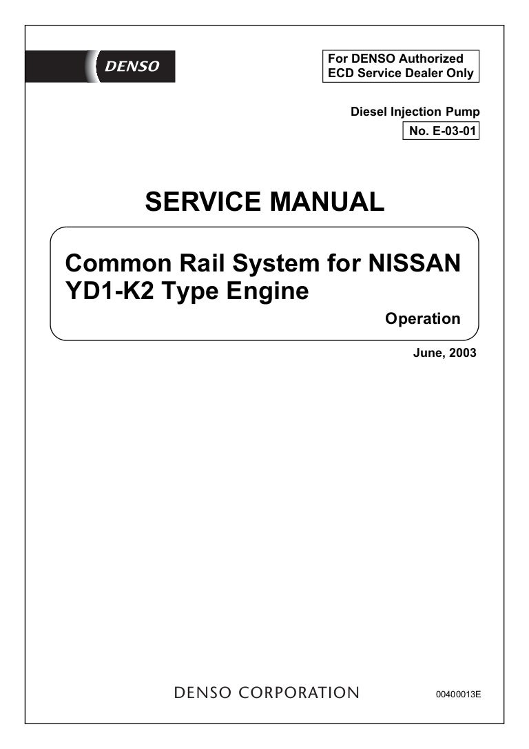 Common Rail System For Nissan Td27 Engine Manual Pdf