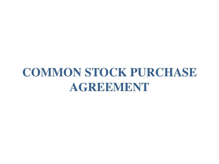 Common Stock Purchase Agreement With Vesting By Orrick Llp