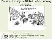 Communicating the NBSAP mainstreaming imperative