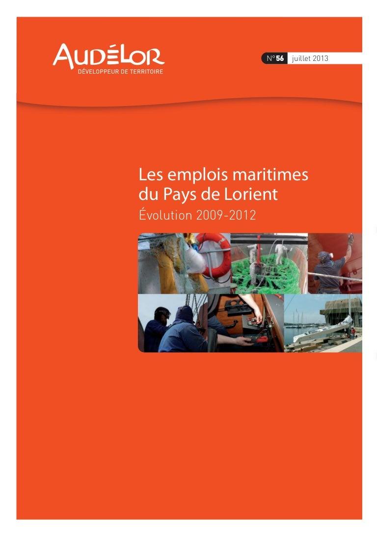 3b96ceb605 Les emplois maritimes du Pays de Lorient. Évolutions 2009-2012. Commu…