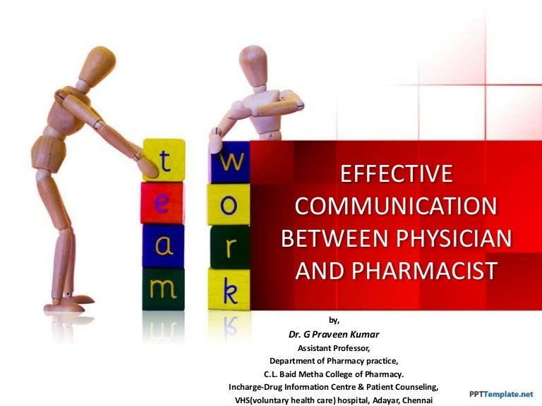Effective communication between physician and pharmacist toneelgroepblik Choice Image