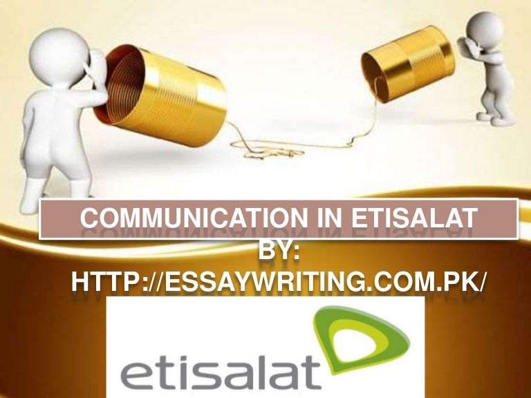 communication in etisalat