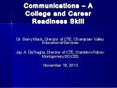Communication jmt presentation nov 3 2010