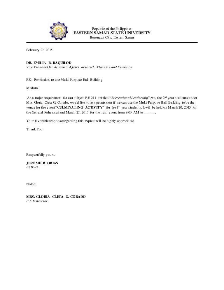 Communication letter for a venue altavistaventures Images