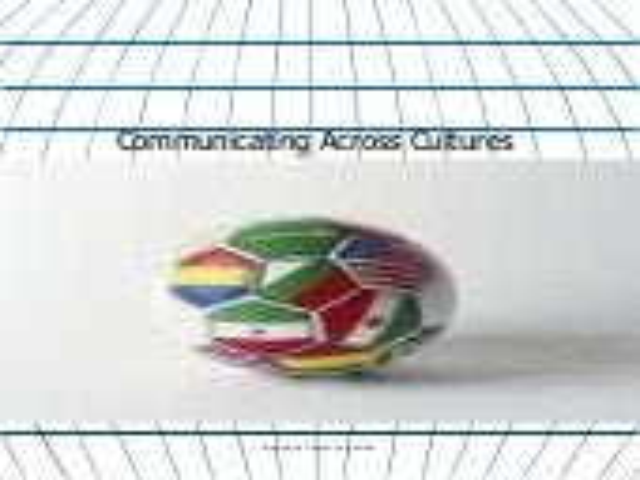 Communications Across Cultures