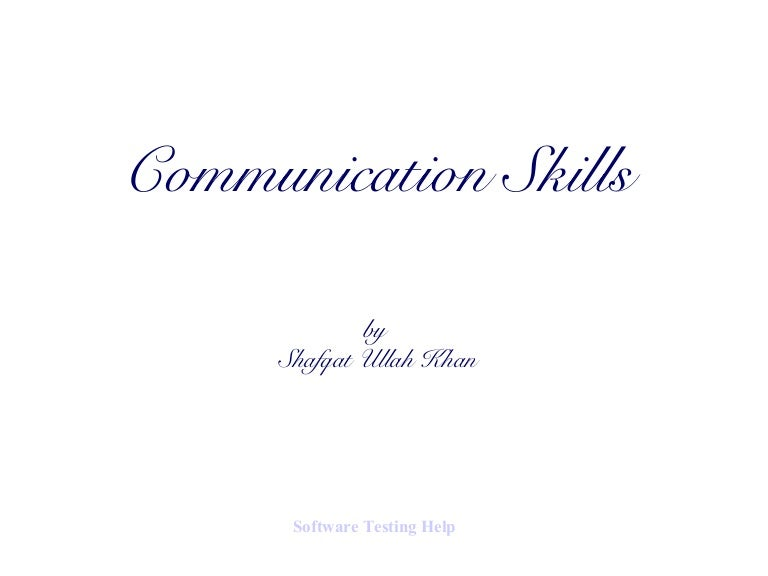 English Communication Effective Skills Ppt