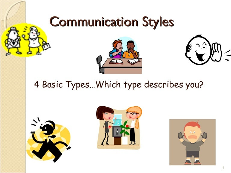 Communication styles ppt 2