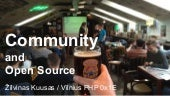 Community and open source