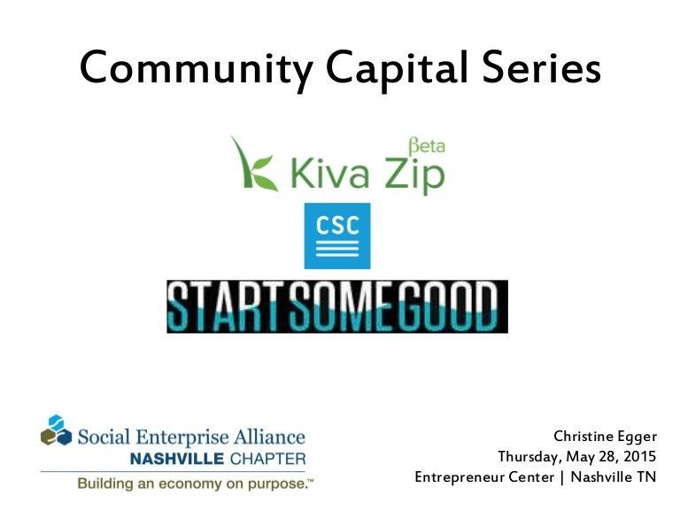 Community Capital Series: Kiva Zip, Community Sourced