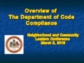 Overview of The Department of Code Compliance