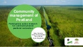 Community management of peatland: Participatory action research for community-based peatland restoration