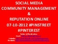 COMMUNITY MANAGEMENT PINTEREST 07-10-2012