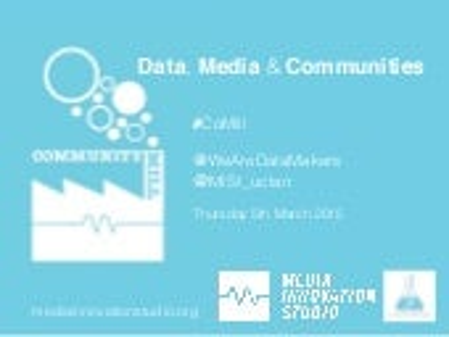 Community Mill: Data, Media & Communities