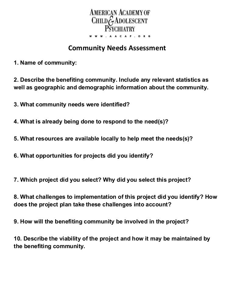 Needs assessment survey example zrom maxwellsz
