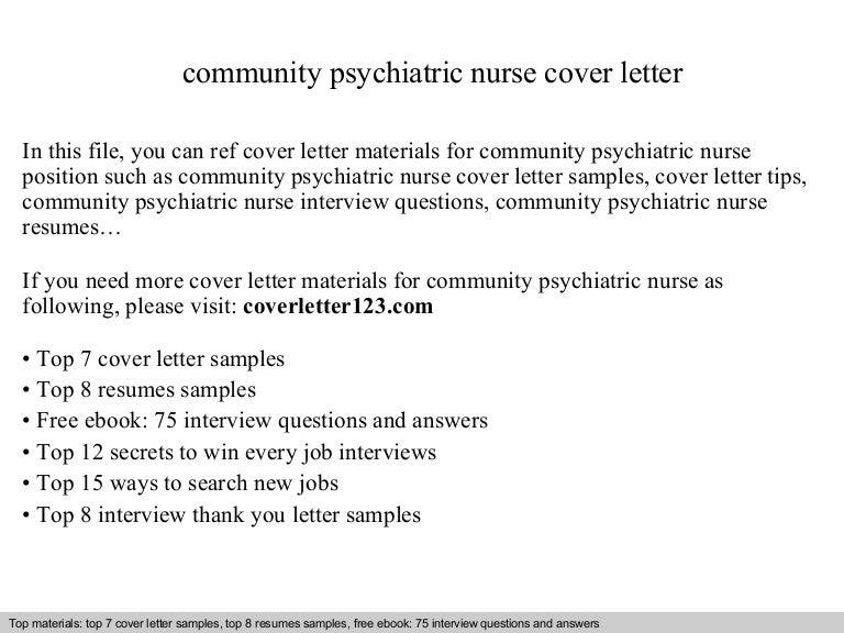 Community Psychiatric Nurse Cover Letter