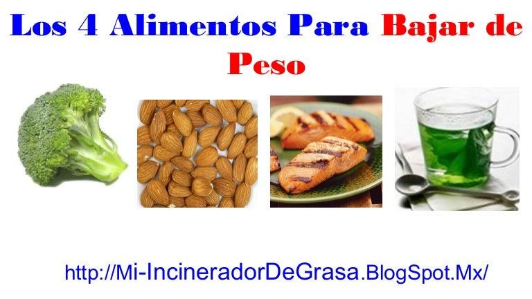 Cómo Bajar De Peso Rápido - 4 Alimentos Para Bajar De Peso