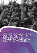 Cómo comunicar en casos de violencia sexual contra mujeres. Emakunde