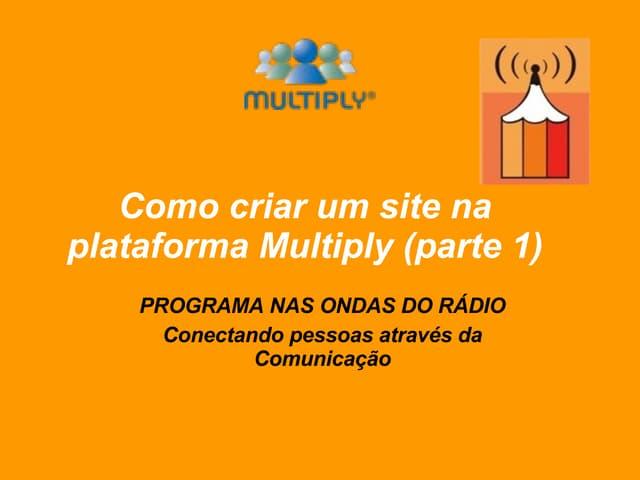 Como criar site na plataforma Multiply