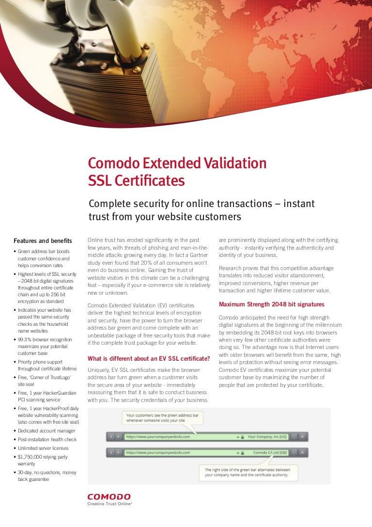 Overview About Comodo Ev Ssl Certificate