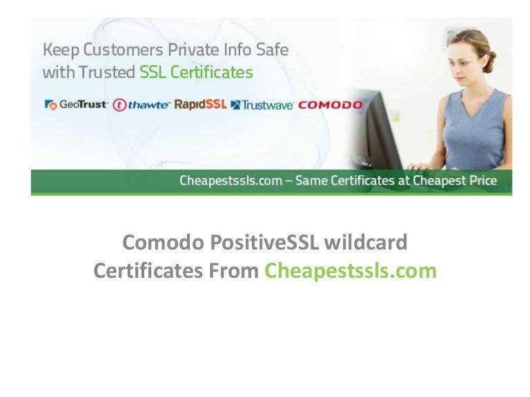 comodo positive wildcard certificates slideshare