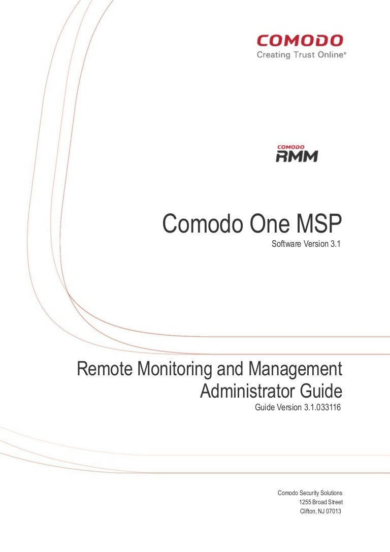 Comodo RMM (Remote Monitoring and Management) Software